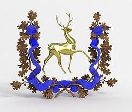3d<font class='myIsRed'>圣诞</font>鹿装饰模型