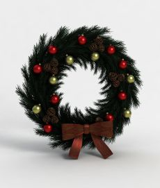 3d<font class='myIsRed'>圣诞</font>花圈模型