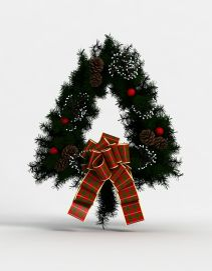 3d<font class='myIsRed'>圣诞</font>节花环模型