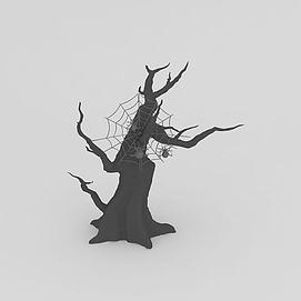 <font class='myIsRed'>万圣节</font>蜘蛛树3d模型