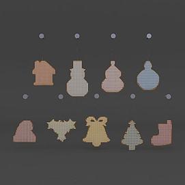 圣诞节装饰物品模型