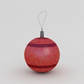 3d<font class='myIsRed'>圣诞</font>节彩球模型
