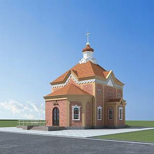教堂3d模型