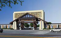 新中式学校大门3d模型