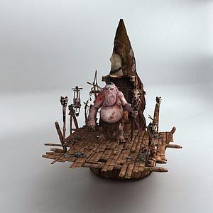 游戲怪物模型3d模型