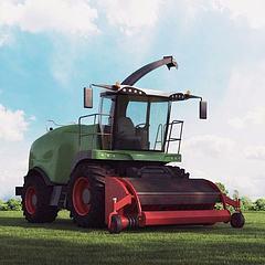 高精度农业机械模型3d模型