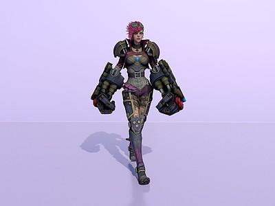 C4D游戲模型_傳奇聯盟模型