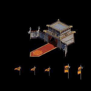 元軍大帳篷場景道具模型3d模型