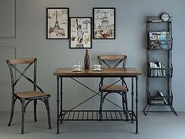 桌椅组合模型