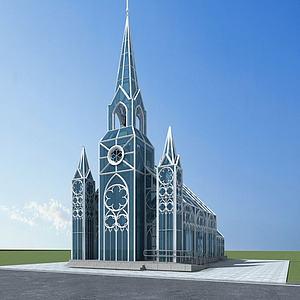 3d教堂模型
