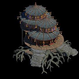 游戏场景房子建筑模型