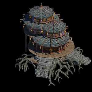 游戲場景房子建筑模型3d模型