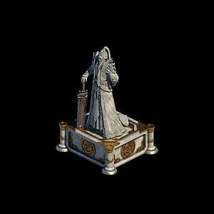 剑冢侠客雕像模型3d模型