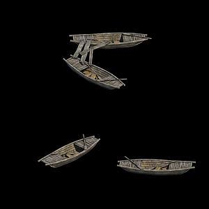 木船模型3d模型