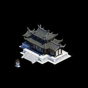 莊主建筑模型3d模型