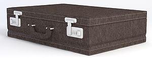 美式复古行李箱模型模型