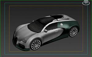 布加迪模型3d模型