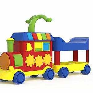 3d小火<font class='myIsRed'>车</font>玩具模型