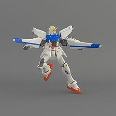 高达蓝白3D模型3d模型