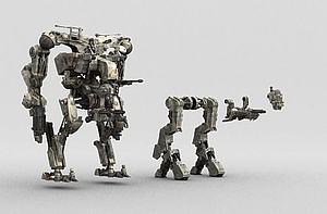 機甲模型3d模型