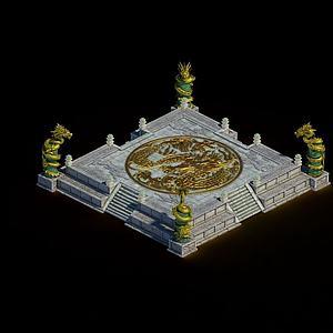 皇宫校场模型3d模型