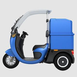 电动三轮车3d模型