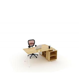 现代老板桌主管桌3d模型