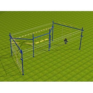 户外拓展高空M2项目3d模型