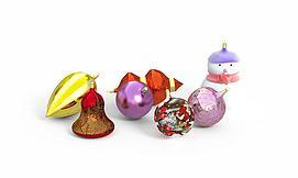 圣诞节装饰物模型