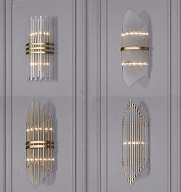 现代轻奢壁灯模型