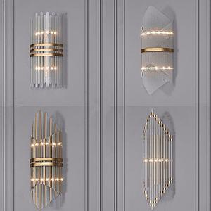 現代輕奢壁燈3d模型