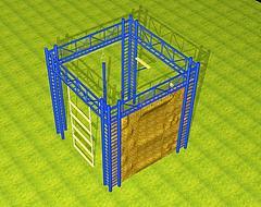 高空四面体攀岩模型3d模型