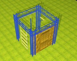 高空四面体攀岩3D模型