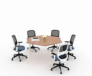 洽谈会议桌3d模型