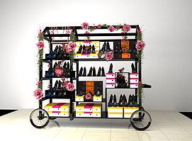 女鞋推车物贩3D模型