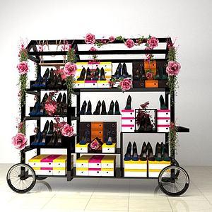 女鞋推车物贩模型