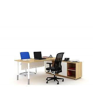 现代办公桌老板桌3d模型