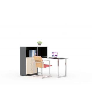 简约员工桌职员桌3d模型