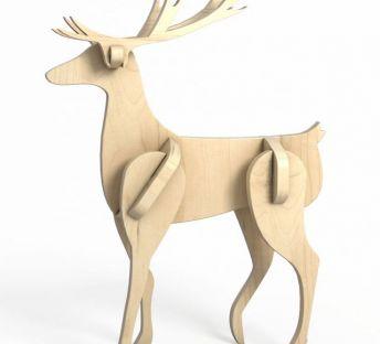 木质拼接麋鹿