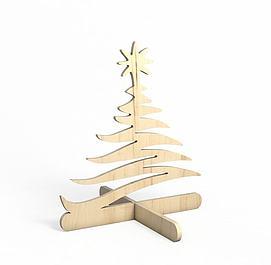3d木质拼接<font class='myIsRed'>圣诞树</font>模型