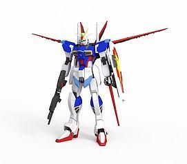 脉冲空战装备高达3D模型