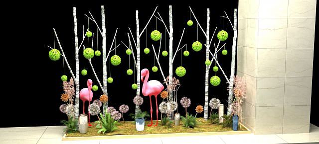 生态火烈鸟模型