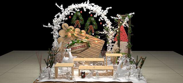 圣诞场景模型