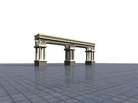 欧式门头3D模型