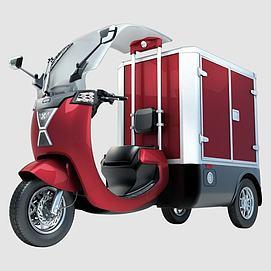 电动三轮车模型