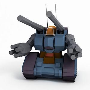 量产型钢坦克模型3d模型