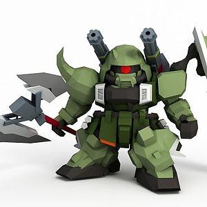 斬擊型扎古勇士模型3d模型