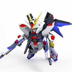 強襲自由模型3d模型