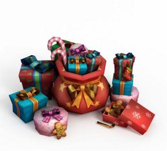 圣诞礼物堆