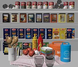 罐头食物合集模型